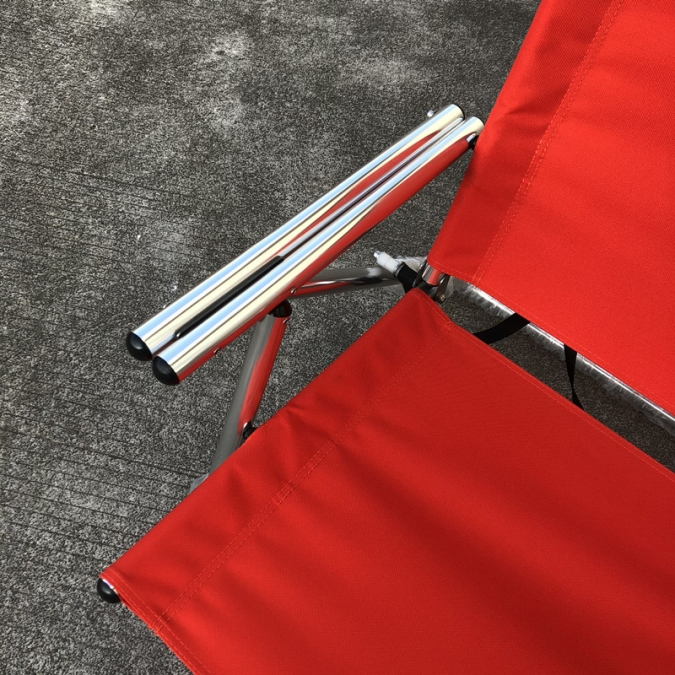 OW-R20 Red Cheap Backpack Foldable Beach Chair Aluminum Armrest