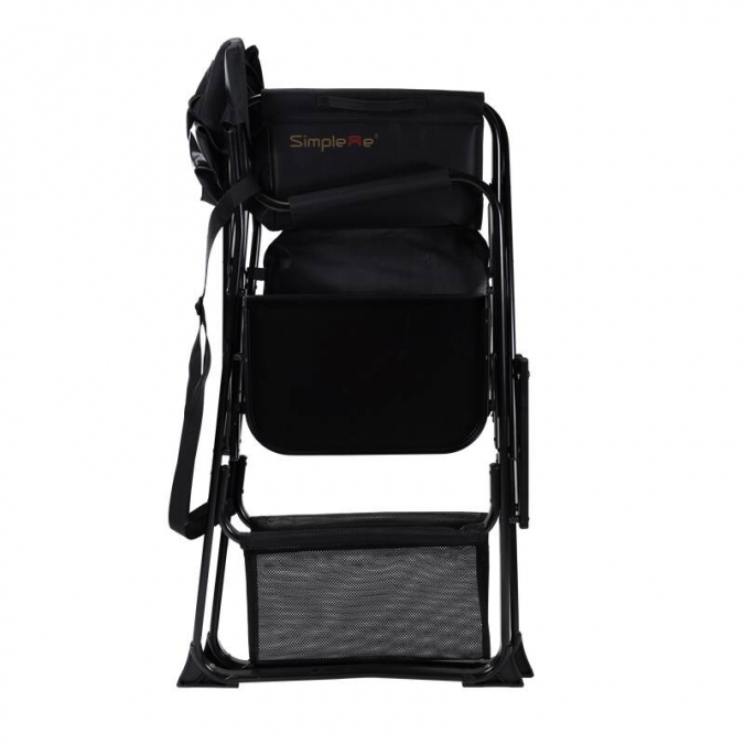 Onwaysports Aluminum USA Portable Director Makeup Cosmetic Chair With Side Tray