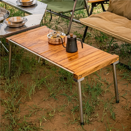 wood camping table