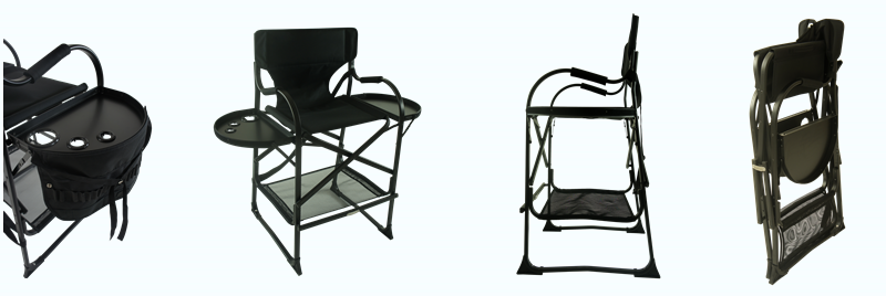 Best selling new fashion Folding aluminum makeup chair